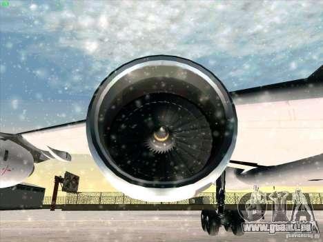 Airbus A-340-600 pour GTA San Andreas vue de dessus