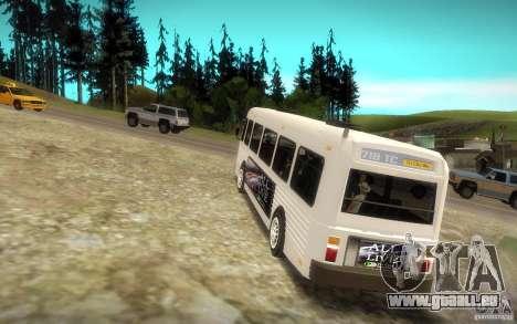 NFS Undercover Bus pour GTA San Andreas sur la vue arrière gauche