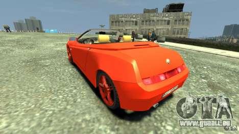 Alfa Romeo GTV Spider pour GTA 4 Vue arrière de la gauche