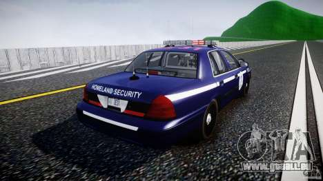 Ford Crown Victoria Homeland Security [ELS] für GTA 4 Seitenansicht