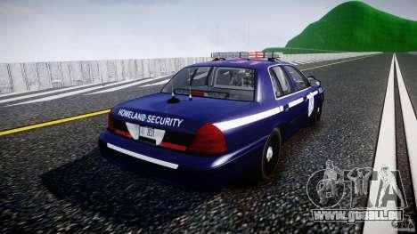 Ford Crown Victoria Homeland Security [ELS] pour GTA 4 est un côté