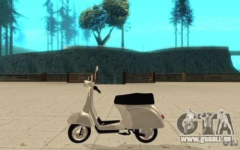 GTAIV EFLC Faggio Classic für GTA San Andreas linke Ansicht