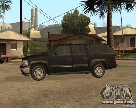 Chevrolet Suburban FBI pour GTA San Andreas sur la vue arrière gauche