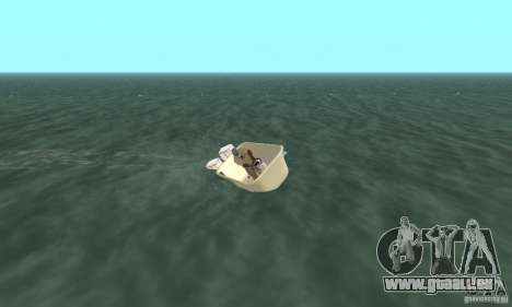 Bathtub Dinghy pour GTA San Andreas vue arrière