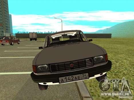 GAZ Volga 31022 pour GTA San Andreas sur la vue arrière gauche