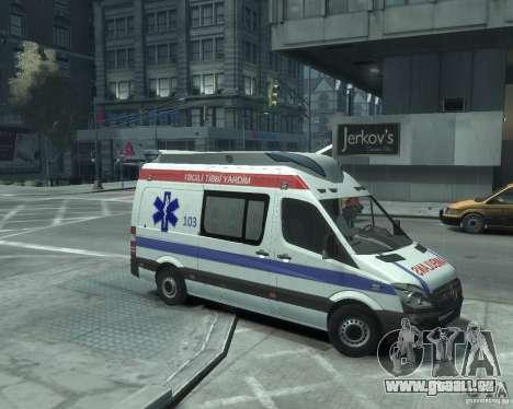 Mercedes-Benz Sprinter Azerbaijan Ambulance v0.1 pour GTA 4 Vue arrière de la gauche