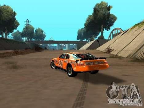 Toyota Camry Nascar Edition pour GTA San Andreas sur la vue arrière gauche
