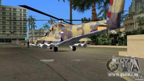 Mi-24 HindB pour GTA Vice City vue latérale