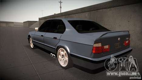 BMW M5 E34 1990 für GTA San Andreas zurück linke Ansicht