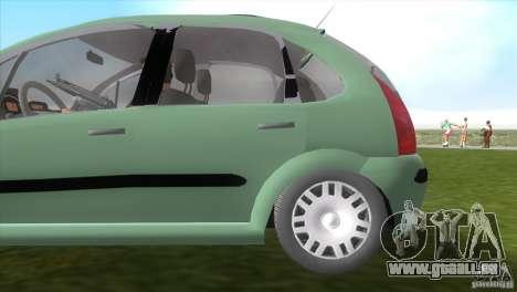 Citroen C3 pour GTA Vice City vue arrière