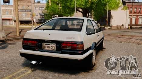 Toyota Sprinter Trueno GT 1985 Apex [EPM] für GTA 4 hinten links Ansicht