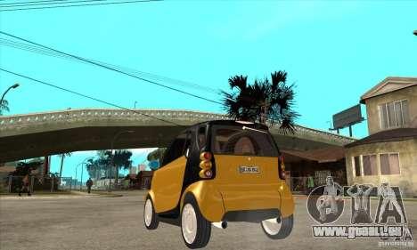 Smart pour GTA San Andreas sur la vue arrière gauche