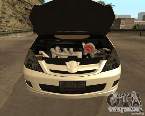 Toyota Innova pour GTA San Andreas vue de dessus