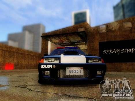 Nissan Skyline R32 Police pour GTA San Andreas vue arrière