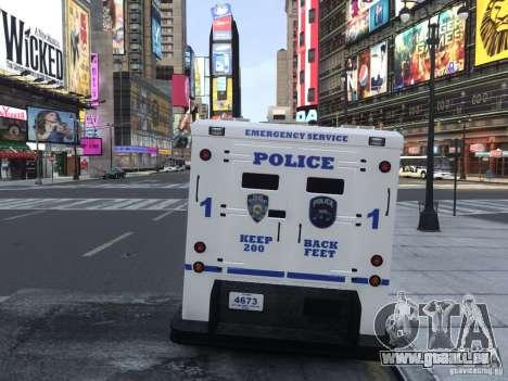 Enforcer Emergency Service NYPD für GTA 4 rechte Ansicht