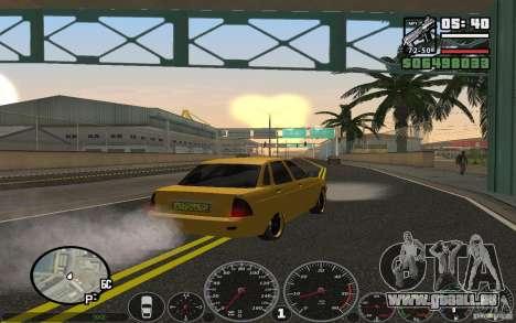 VAZ Lada Priora Taxi für GTA San Andreas zurück linke Ansicht
