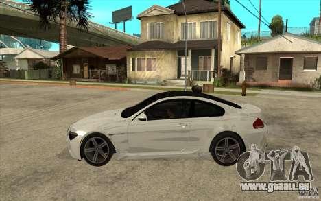 BMW M6 Coupe V 2010 pour GTA San Andreas laissé vue