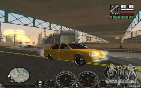 VAZ Lada Priora Taxi für GTA San Andreas rechten Ansicht
