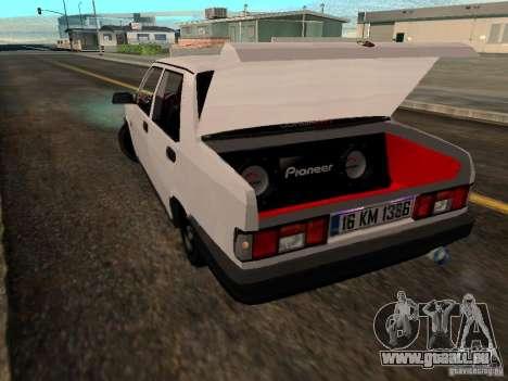 Tofas Sahin DRIFT pour GTA San Andreas sur la vue arrière gauche