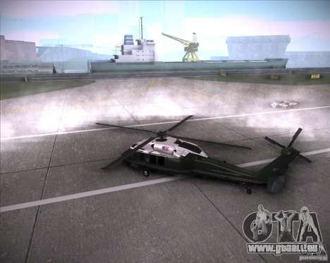 Sikorsky VH-60N Whitehawk für GTA San Andreas linke Ansicht