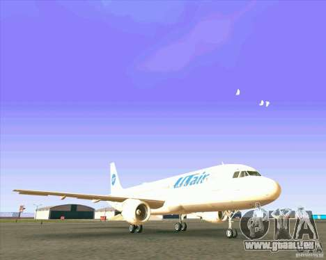 Airbus A-320 compagnie aérienne UTair pour GTA San Andreas laissé vue