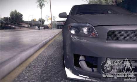 Scion Tc Street Tuning für GTA San Andreas Innenansicht