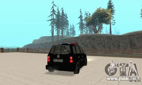 Volkswagen Touran 2006 Police für GTA San Andreas linke Ansicht