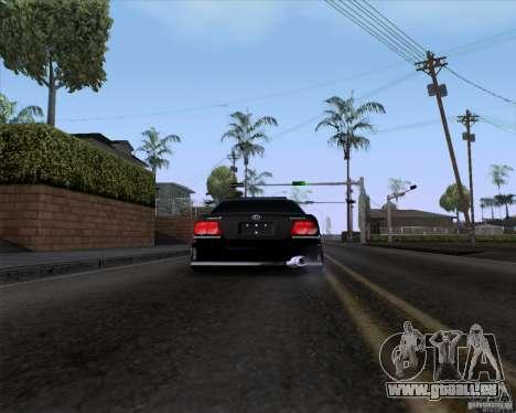 Toyota Chaser jzx100 Drift Police pour GTA San Andreas sur la vue arrière gauche