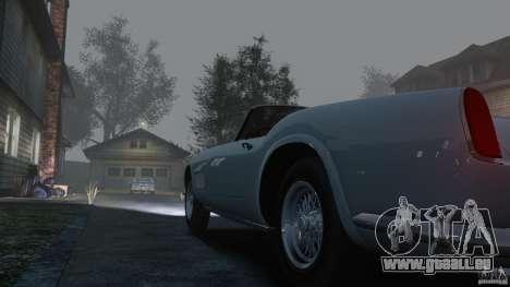 Ferrari 250 California 1957 pour GTA 4 est une vue de l'intérieur
