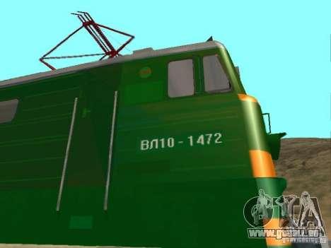 Vl10-1472 pour GTA San Andreas vue intérieure