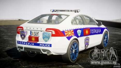Volvo S60 Macedonian Police [ELS] pour GTA 4 est un côté