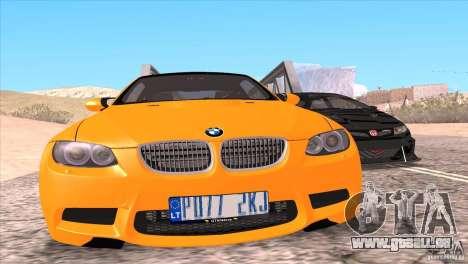 BMW M3 E92 für GTA San Andreas Motor