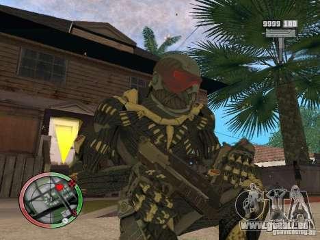 Sammlung von Waffen von Crysis 2 für GTA San Andreas zehnten Screenshot
