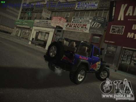Jeep Wrangler Red Bull 2012 für GTA San Andreas linke Ansicht