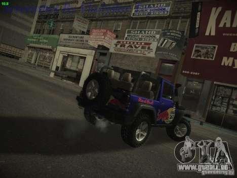 Jeep Wrangler Red Bull 2012 für GTA San Andreas linke Ansicht