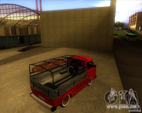 Volkswagen Transporter T3 pickup pour GTA San Andreas vue de droite
