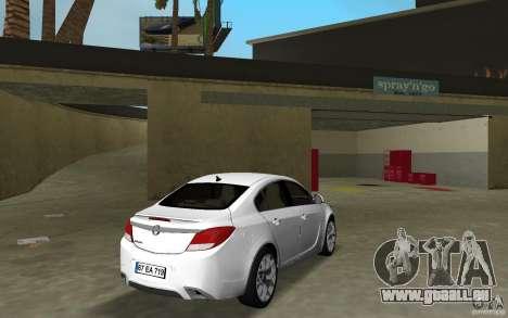 Opel Insignia für GTA Vice City rechten Ansicht