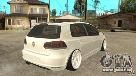 Volkswagen Golf VI 2010 Stance Nation für GTA San Andreas rechten Ansicht