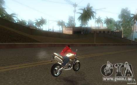 Honda CBF 600 Hornet für GTA San Andreas Rückansicht