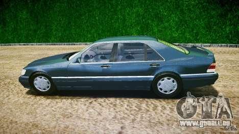 Mercedes Benz SL600 W140 1998 higher Performance für GTA 4 linke Ansicht