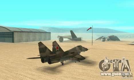 MIG-29 pour GTA San Andreas laissé vue