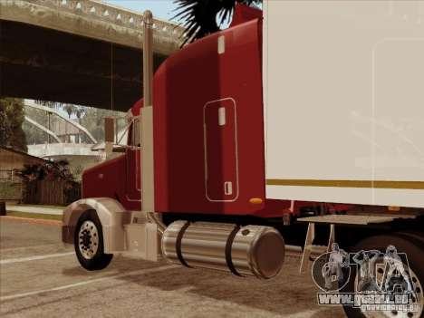 Peterbilt 377 für GTA San Andreas Rückansicht