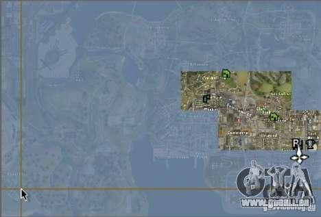 La nouvelle carte et radar pour GTA San Andreas deuxième écran