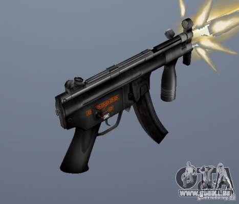H&K MP5K pour GTA San Andreas deuxième écran