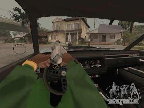 SabreGT de GTA 4 pour GTA San Andreas vue intérieure
