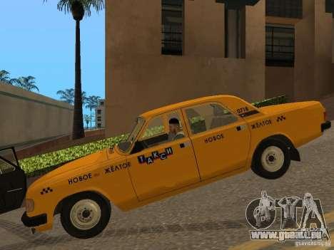 Taxi GAZ 31029 pour GTA San Andreas laissé vue