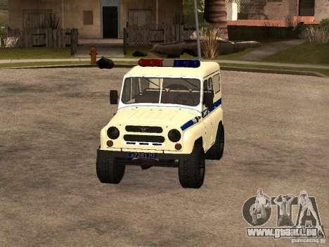 UAZ-Polizei für GTA San Andreas linke Ansicht
