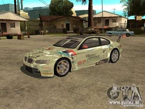 BMW M3 GT2 pour GTA San Andreas laissé vue