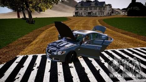 Jaguar XFR 2010 pour GTA 4 est un côté
