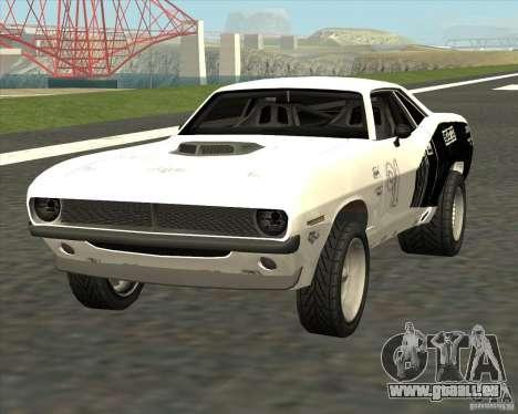 Plymouth Hemi Cuda Rogue pour GTA San Andreas sur la vue arrière gauche
